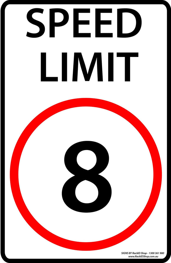 Speed Sign 8km/h Outdoor-Signs-RackID Shop
