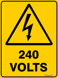 Warning 240 VOLTS - Signs - RackID Shop