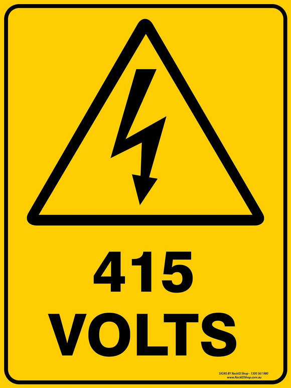 415 VOLTS OUTDOORS - Signs - RackID Shop