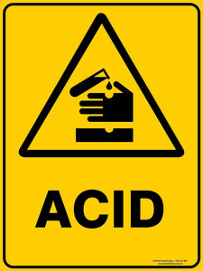 Warning ACID-Signs-RackID Shop