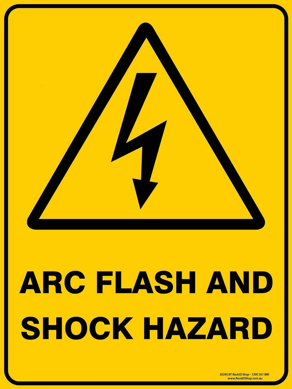 ARC FLASH AND SHOCK OUTDOORS - Signs - RackID Shop
