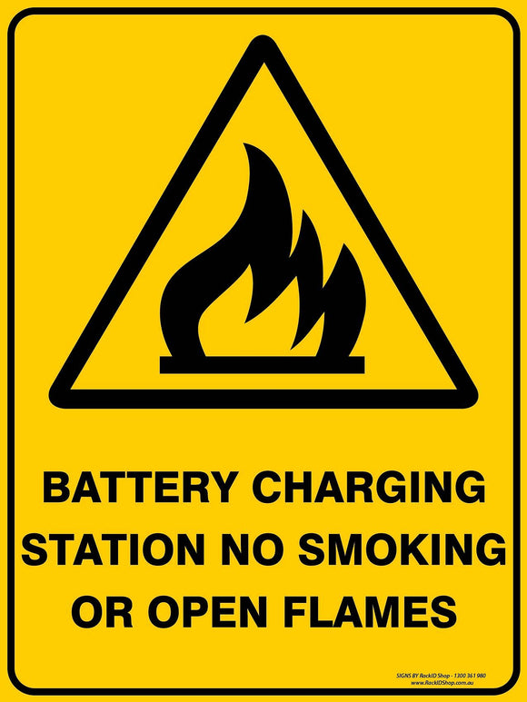 BATTERY CHARGING OUTDOORS-Signs-RackID Shop
