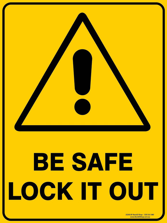 BE SAFE  OUTDOORS - Signs - RackID Shop
