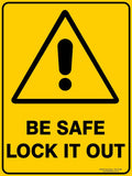 BE SAFE-Signs-RackID Shop