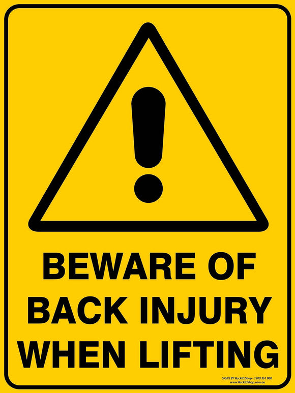 BACK INJURY - Signs - RackID Shop