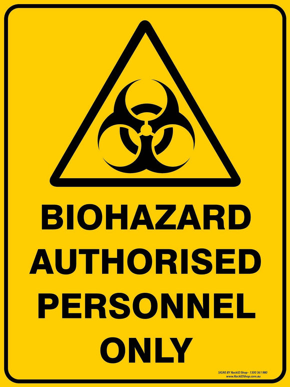 BIOHAZARD AUTHORIZED-Signs-RackID Shop