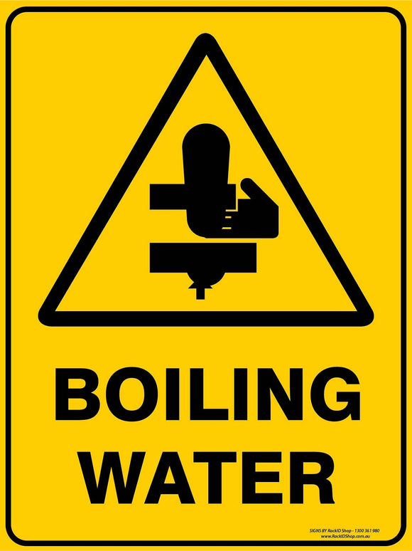 BOILING WATER OUTDOORS-Signs-RackID Shop