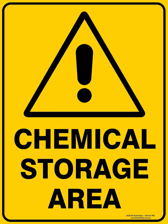 CHEMICAL STORAGE OUTDOORS - Signs - RackID Shop