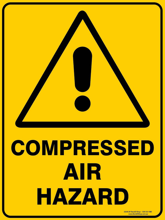 COMPRESSED AIR OUTDOORS - Signs - RackID Shop