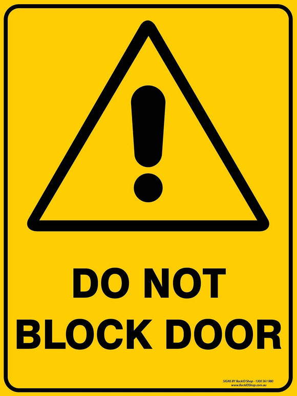 DO NOT BLOCK DOOR-Signs-RackID Shop