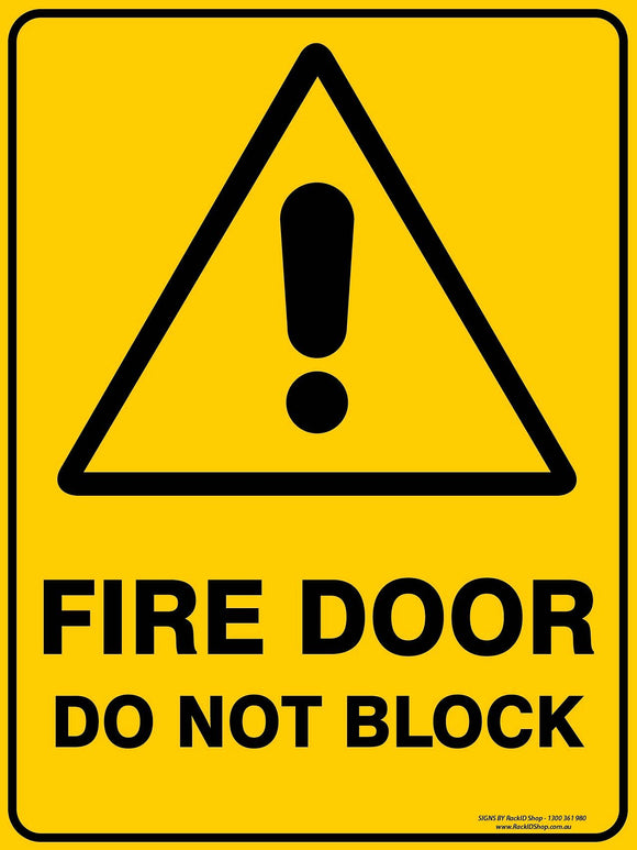 FIRE DOOR DON'T BLOCK-Signs-RackID Shop