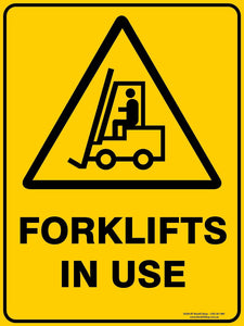 FORKLIFT IN USE OUTDOORS - Signs - RackID Shop