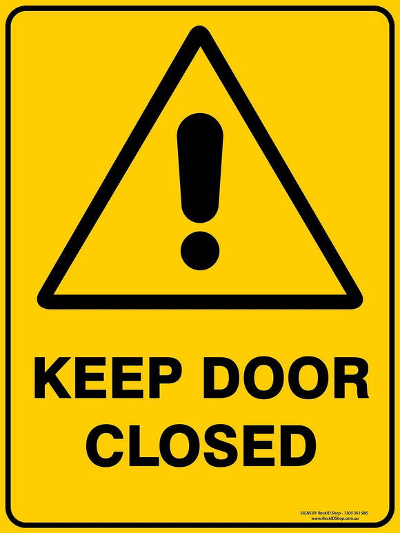 KEEP DOOR CLOSED OUTDOORS-Signs-RackID Shop