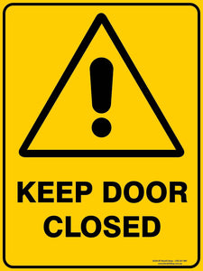 KEEP DOOR CLOSED-Signs-RackID Shop