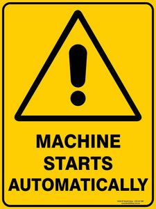 MACHINE STARTS AUTOMATICALLY-Signs-RackID Shop