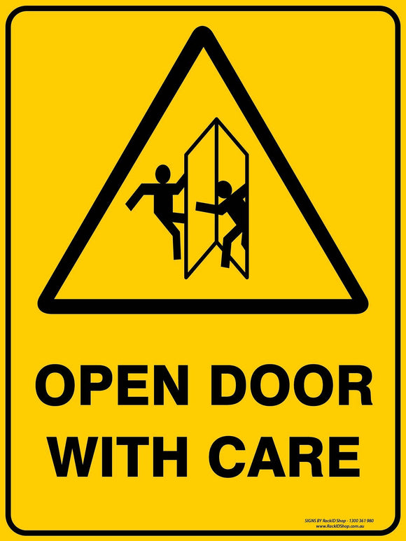 OPEN DOOR WITH CARE-Signs-RackID Shop