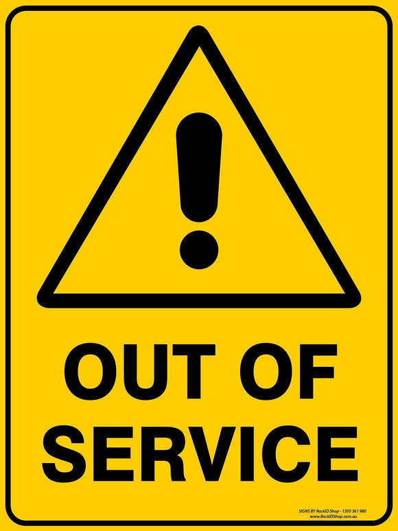 OUT OF SERVICE-Signs-RackID Shop