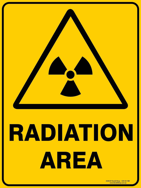 RADIATION AREA OUTDOORS-Signs-RackID Shop