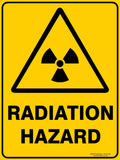 RADIATION HAZARD OUTDOORS-Signs-RackID Shop