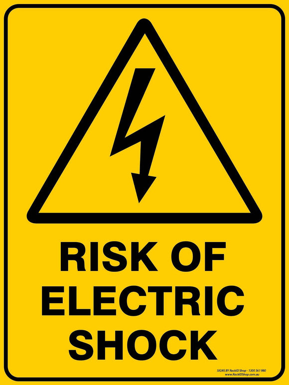RISK OF ELECTRIC SHOCK OUTDOORS-Signs-RackID Shop