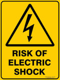 RISK OF ELECTRIC SHOCK - Signs - RackID Shop