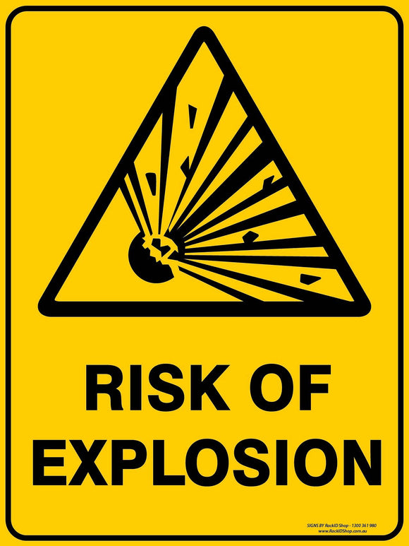 RISK OF EXPLOSION - Signs - RackID Shop
