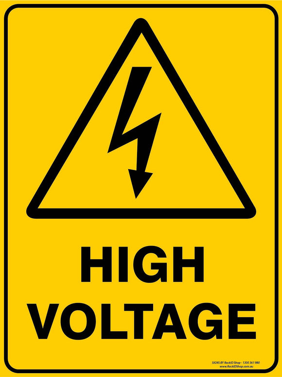 HIGH VOLTAGE OUTDOORS - Signs - RackID Shop