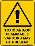 TOXIC AND OR FLAMMABLE OUTDOORS-Signs-RackID Shop