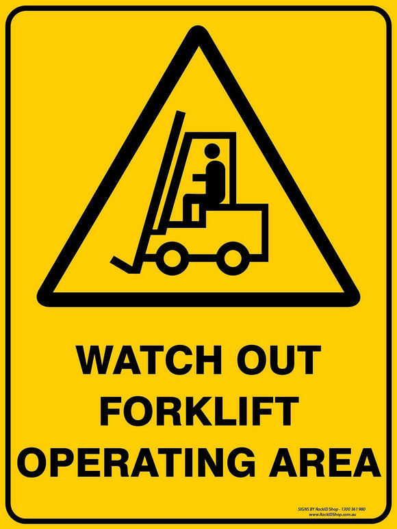 WATCH OUT FOR FORKLIFTS-Signs-RackID Shop