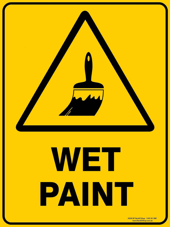 WET PAINT OUTDOORS-Signs-RackID Shop