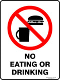 NO EATING OR DRINKING OUTDOORS-Signs-RackID Shop