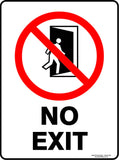NO EXIT OUTDOORS-Signs-RackID Shop