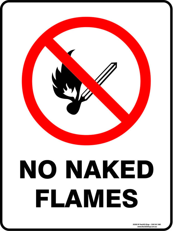 NO NAKED FLAMES-Signs-RackID Shop