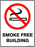 SMOKE FREE BUILDING OUTDOORS-Signs-RackID Shop