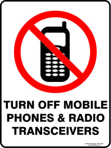 TURN OFF MOBILE PHONES-Signs-RackID Shop