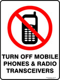 TURN OFF MOBILE PHONES OUTDOORS-Signs-RackID Shop