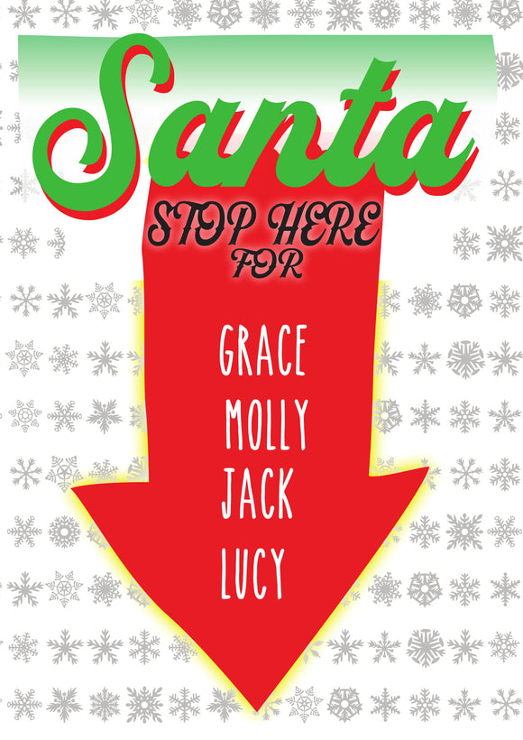 SANTA STOP HERE FOR...-Christmas Signs-RackID Shop