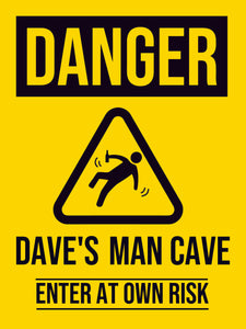 MAN CAVE (DANGER)-Man Cave-RackID Shop