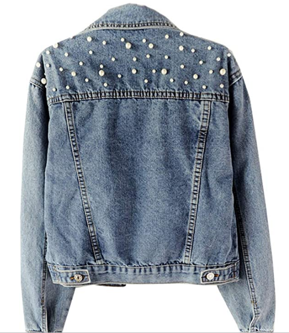 Personalized Pearl Denim Jacket - LE EL New York