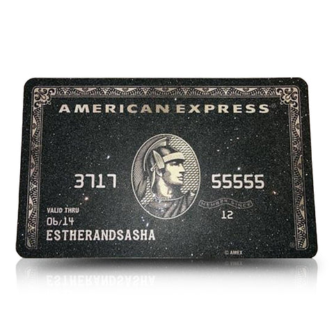 Black Card Canvas - LE EL New York