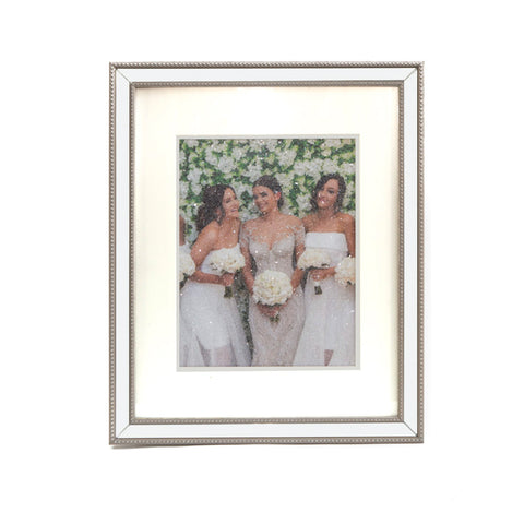 8x10 Diamond Dusted Photo -Matted Frame - LE EL New York