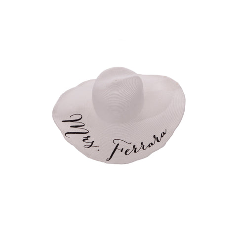 Personalized Floppy Hat - TIFFANY GONZALEZ - LE EL New York