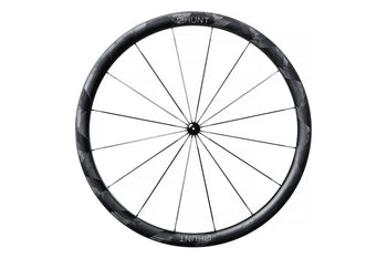 <h1>Rims</h1><i>Using an adaptive filament winding process, which varies thickness and orientation across the rim, these rims achieve a very light weight and excellent transmission of force from the spoke to the rest of the rim. The process also provides additional material to create high strength at the spoke areas while minimising unnecessary weight between the spokes. They are wide at 27mm (19mm int.) which creates a great tyre profile, resulting in excellent grip and lower rolling resistance.</i>