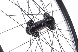 <h1>Front Hub</h1><i>We have gone all out on the front hub and beefed it up over our XC Wide and Trail Wide wheelsets. Featuring an oversized shell to accommodate larger and extremely durable bearings and 7075-T6 series alloy axles to increase stiffness. These hubs have been selected based on their ability to perform on the most aggressive trails.</i>