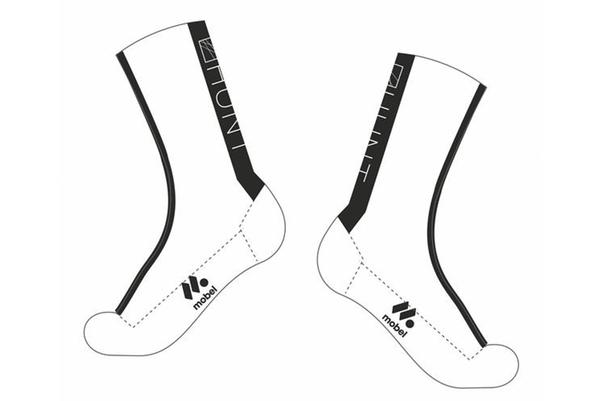 Hunt 4 Season High Thermo-Lite Cycling Socks - White