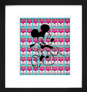 Mickey Campbell Pink on Blue