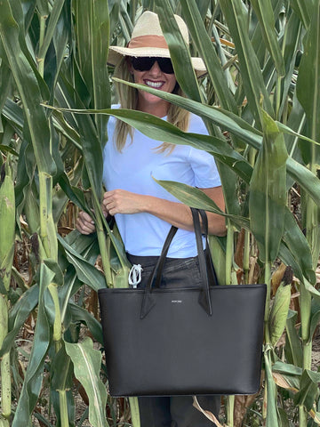 Cassie Brungarth Corn Field with Everything Tote