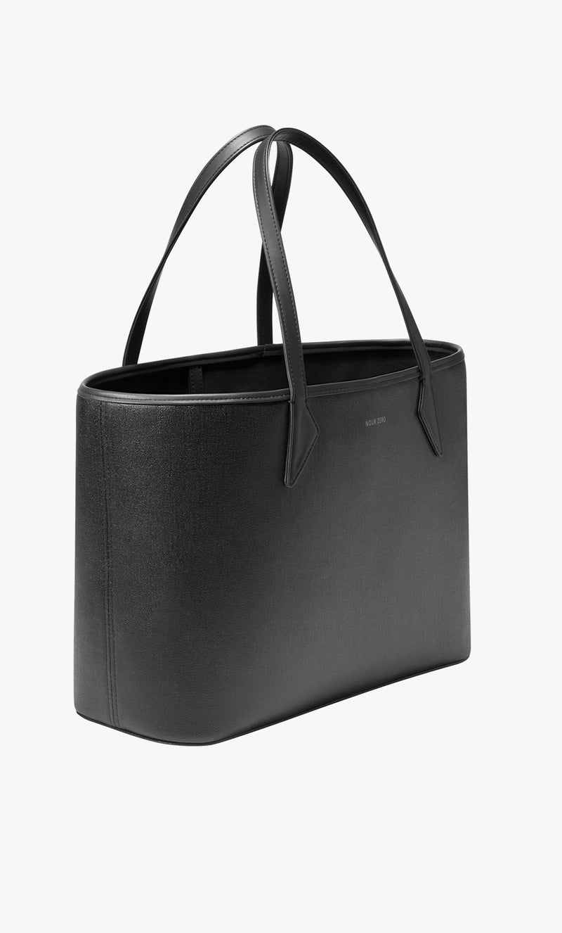 NOUR ZERO The Everything Tote Handbag viewed from a right side angle