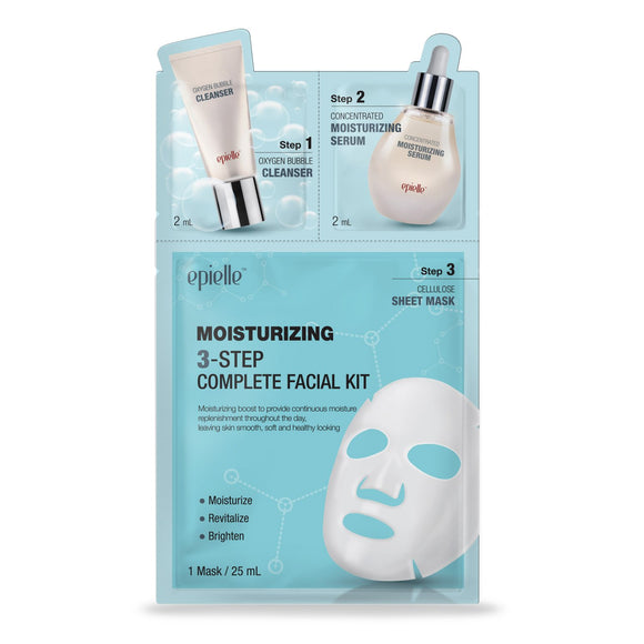 epielle 3-Step Moisturizing Facial Essence Mask, 1ct