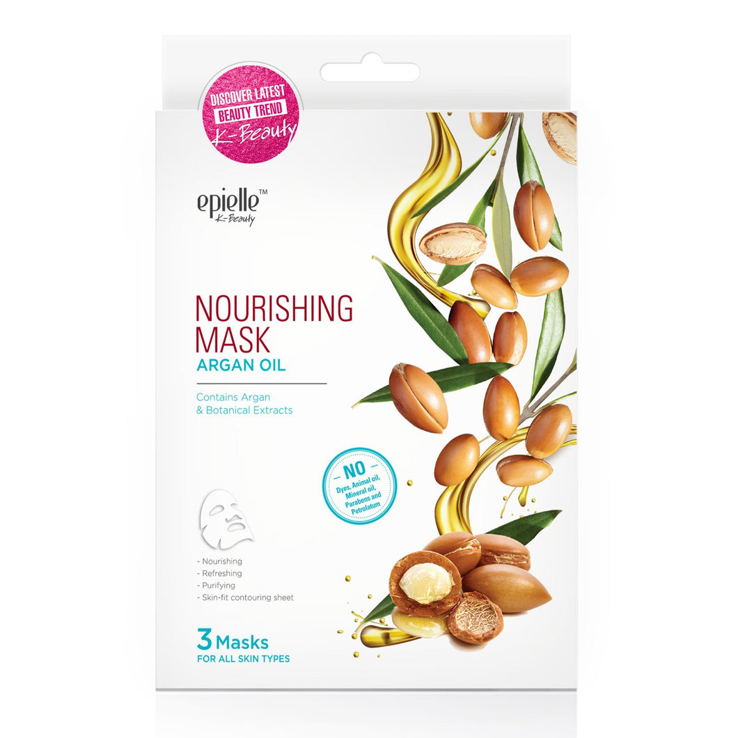 epielle Argan Oil Nourishing Mask, 3ct